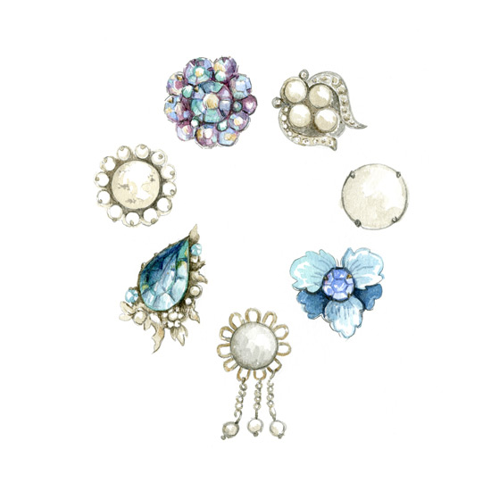 art prints - Costume Jewelry by Field and Sky