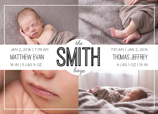 birth announcements - The Boys are Here by Alyssa Jamal