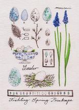 Minty blue botanics by Birgitte Els-Schleuder