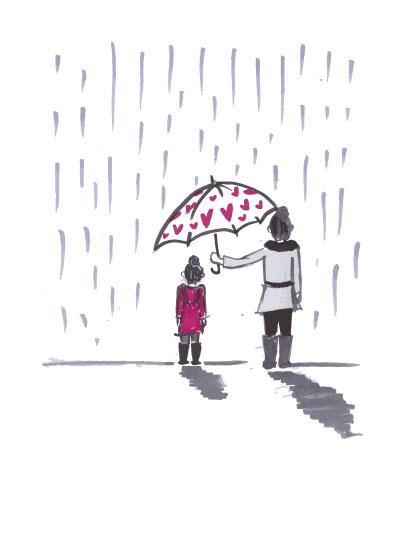 art prints - motherhood: umbrella by JK Design