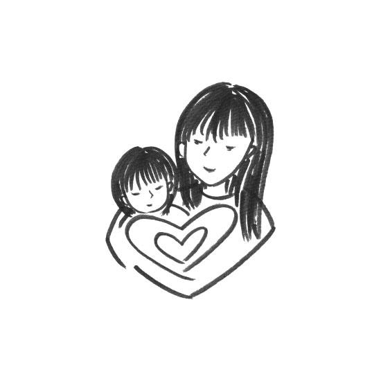 art prints - motherhood: heart by JK Design