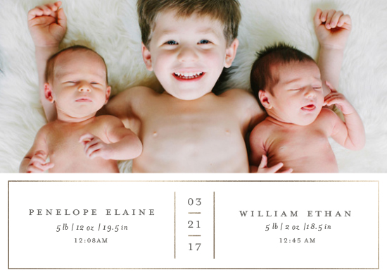 birth announcements - double delight by Cheer Up Press