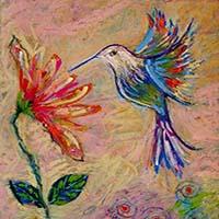 art prints - Humming bird by Darlene Bevill