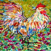 art prints - Italian Rooster by Darlene Bevill
