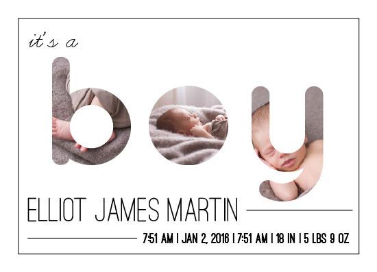 birth announcements - It's a boy! by Alyssa Jamal