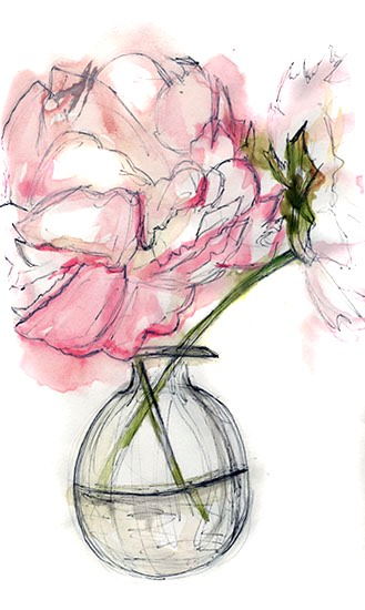 art prints - Painted Peonies by Alyssa Ruggieri
