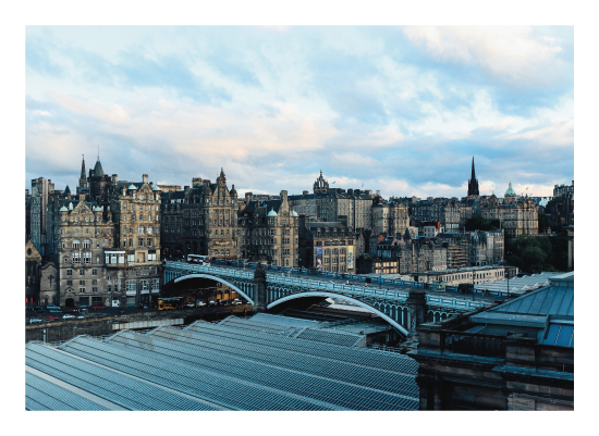art prints - Edinburgh Twilight by Emily Krisky