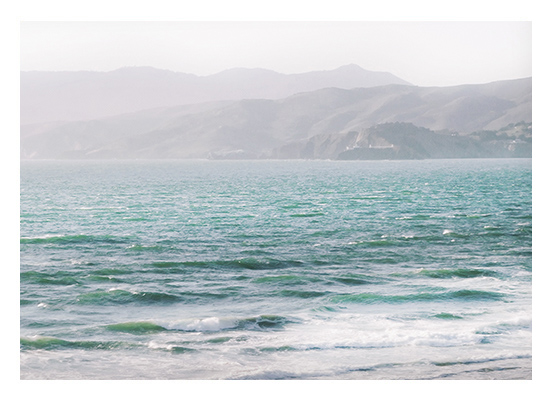 art prints - Minty California Waves by Michelle Jones