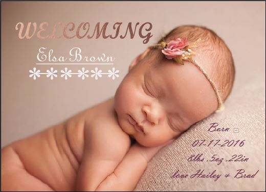 birth announcements - love at first cry by Life is Art
