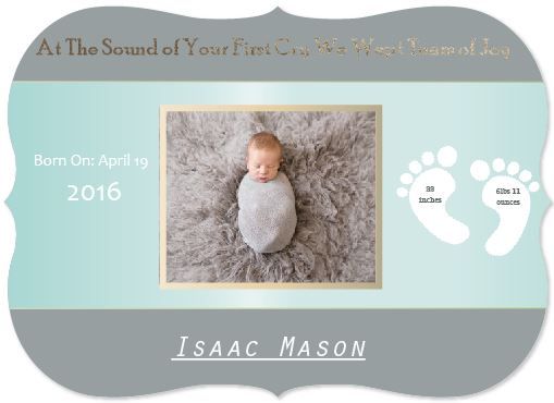 birth announcements - Tears of Joy by Life is Art