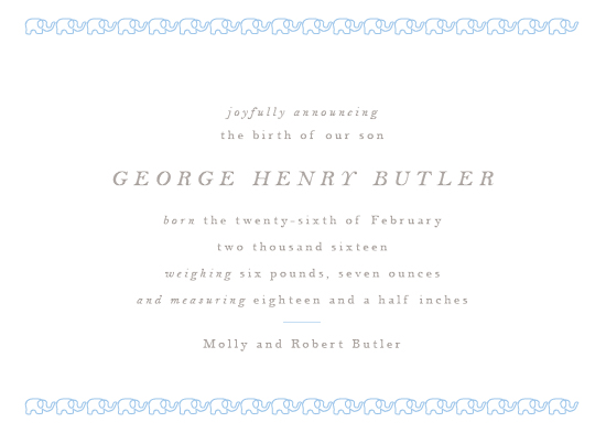 birth announcements - Petite Elephant by Toast & Laurel