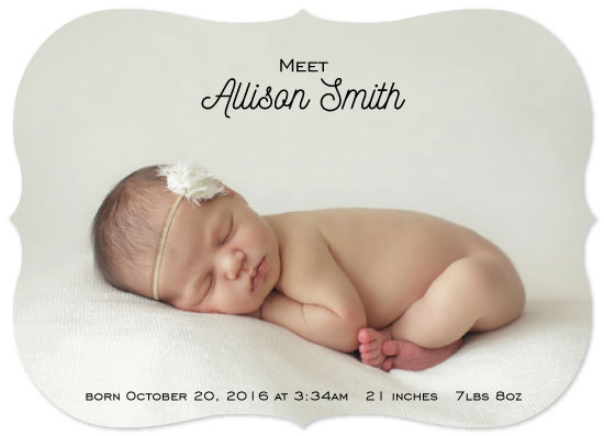birth announcements - Simple and Clean by Kailyn Glassmacher
