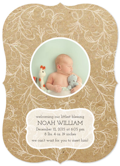 birth announcements - Natural Floral Whimsy by Rachel Bartunek