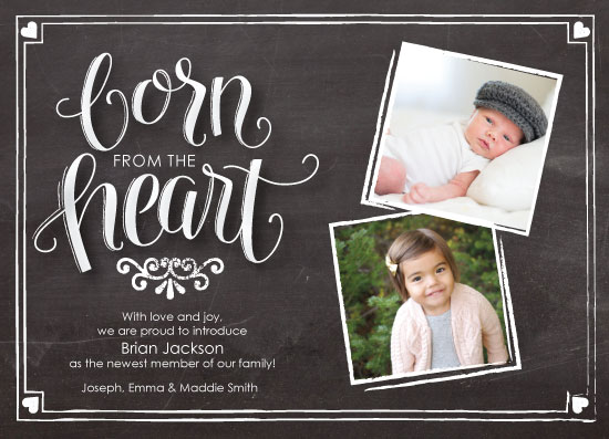 birth announcements - Born from the Heart Adoption by Rachel Bartunek