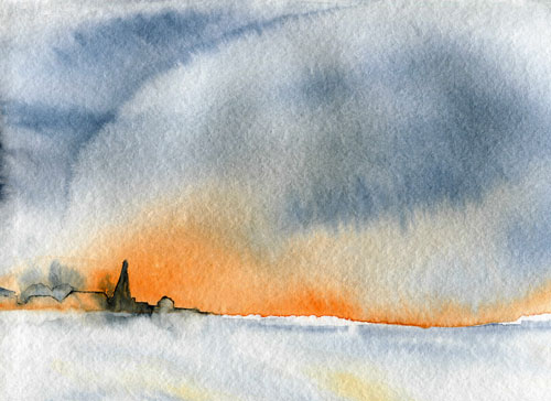 art prints - Sunset in winter by LARAND