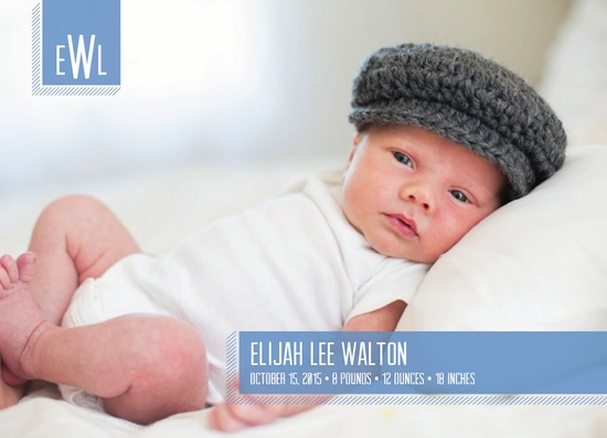 birth announcements - Boy Blue by Designerly