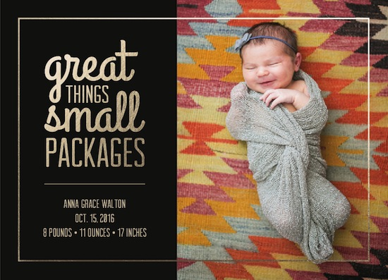 birth announcements - Itty Bitty by Designerly