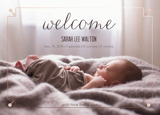 birth announcements - Little Rattle by Designerly