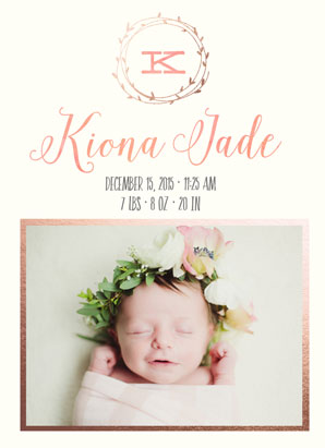 birth announcements - Botanical Baby by Caili