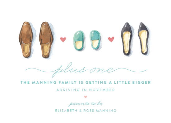 birth announcements - Plus One by Four Wet Feet Studio