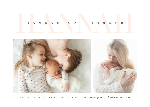 birth announcements - Love-ly by Lauren Chism