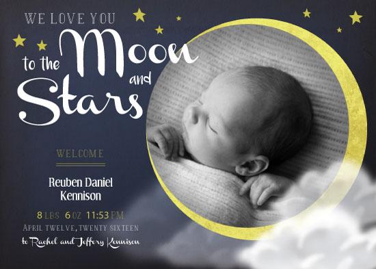 birth announcements - Midnight Moon by Rachel Kennison