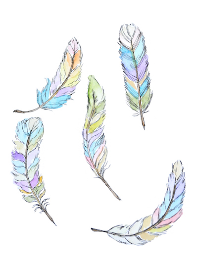 art prints - Fancy feathers by Jennifer Rizzo