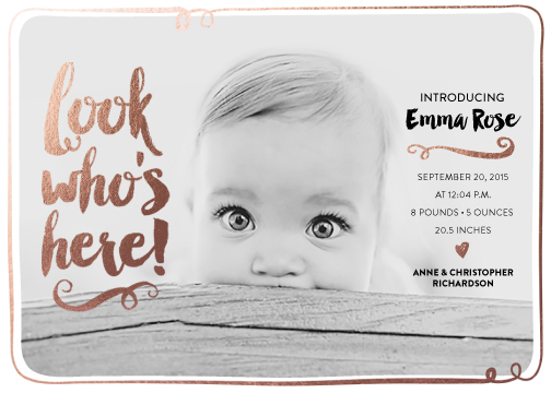 birth announcements - Look Who's Here! by Kristen Sangregorio