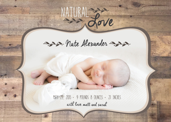birth announcements - Natural Love by Jolene Heckman