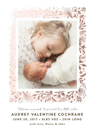 birth announcements - petit foliage by Bonjour Paper
