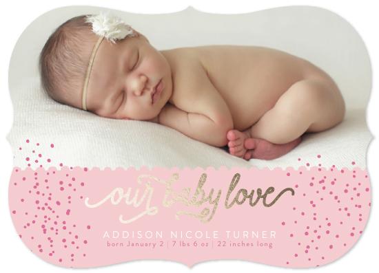 birth announcements - Our Baby Love by Amanda Cheatham