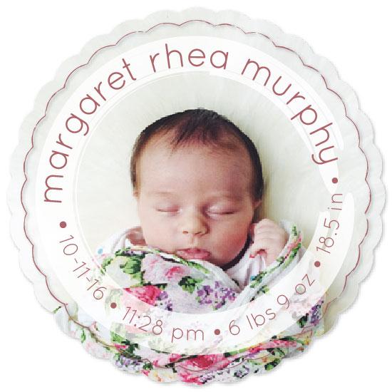 birth announcements - Circle Overlay by Alyssa Jamal
