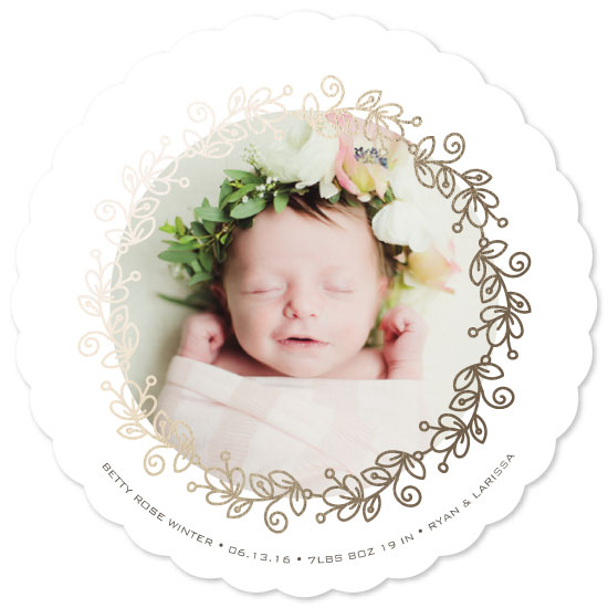 birth announcements - Floral Circle by Laura Hamm
