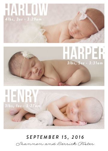 birth announcements - Instant Family by 24th and Dune