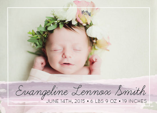 birth announcements - Simple Script by Alyssa Jamal