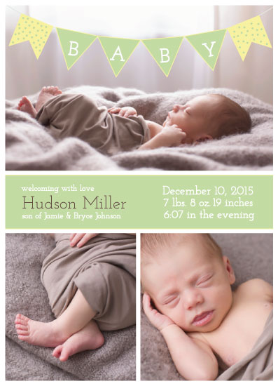 birth announcements - Whimsy Baby Banner by Rachel Bartunek