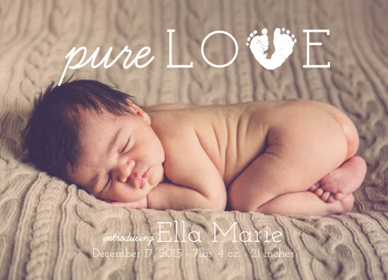 birth announcements - Pure Love by Rachel Bartunek