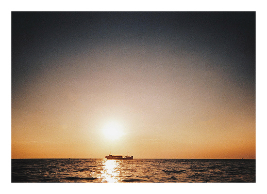 art prints - Sunset at the sea by Nadinda