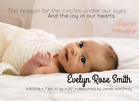 birth announcements - Exhausted and Joyful by Carrie Pray