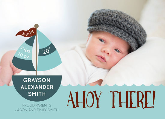 birth announcements - Ahoy There! by Carrie Pray