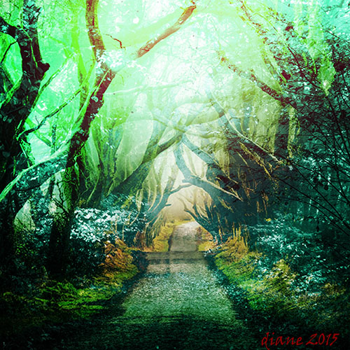 art prints - blue forest by Diane Amil