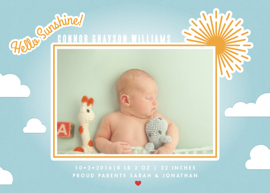 birth announcements - Oh Hello Sunshine by Ling Wang
