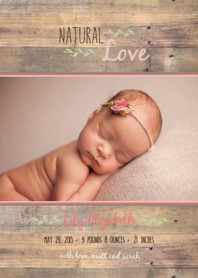 birth announcements - Classic Natural Love by Jolene Heckman
