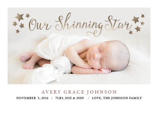 birth announcements - Shinning Star by Tennille Hopper