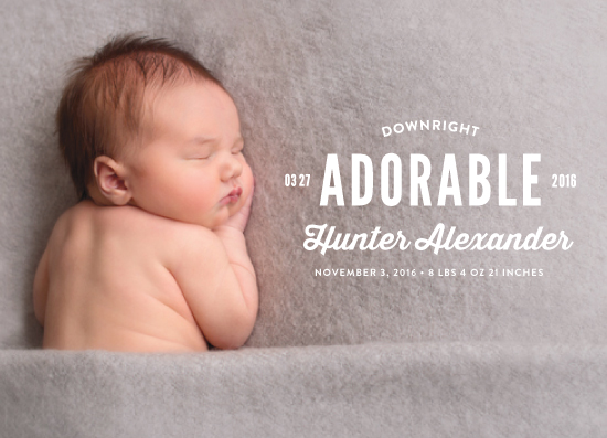 birth announcements - Downright Adorable by Alex Cottles