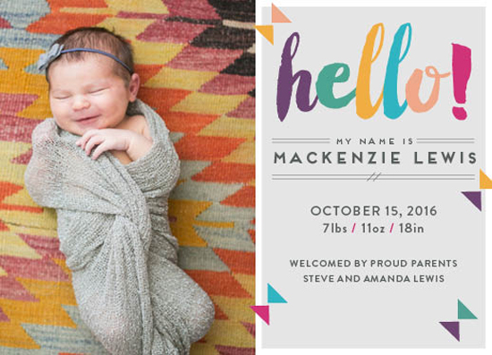 birth announcements - Playing the Cute Angle by Tennille Hopper