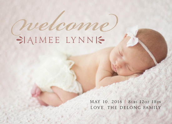 birth announcements - Sweet in Pink by Tennille Hopper