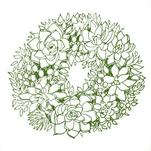 Psycho Succulent Wreath by Taelor Fisher