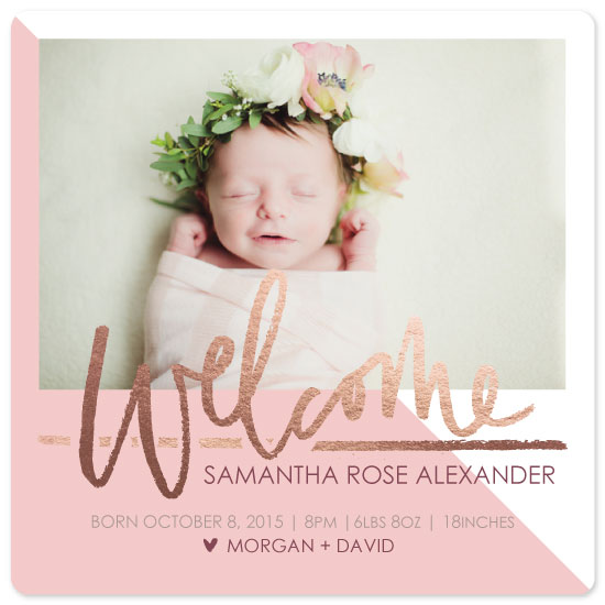 birth announcements - rose gold beauty by JK Design