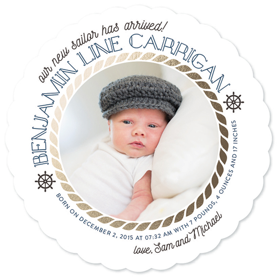 birth announcements - New sailor aboard! by Bella